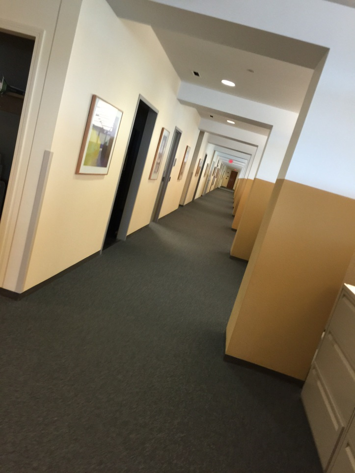 This is how the hallway looks by the end of the week.